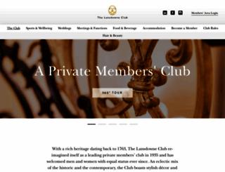 lansdowneclub.com screenshot