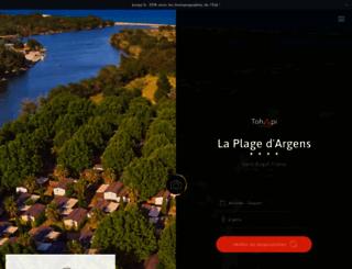 laplagedargens.fr screenshot