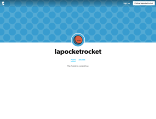 lapocketrocket.tumblr.com screenshot