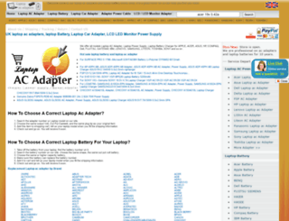 laptop-ac-adapters.co.uk screenshot