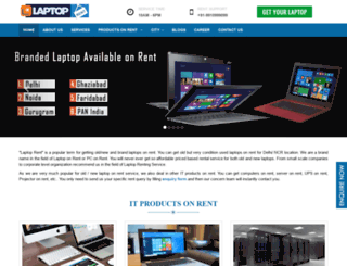 laptoprent.in screenshot