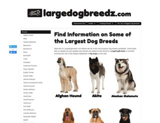 largedogbreedz.com screenshot