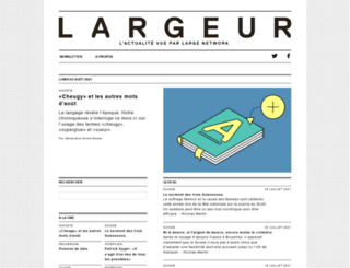 largeur.com screenshot