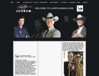 larryhagman.com screenshot