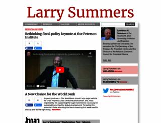 larrysummers.com screenshot