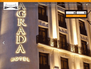 lasagradahotel.com screenshot