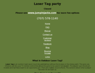 laser-tag-party.com screenshot