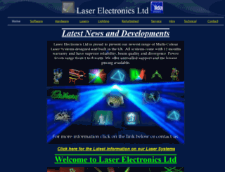 laserelectronicsltd.com screenshot