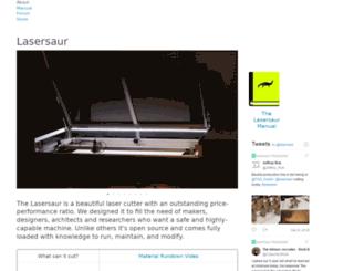 lasersaur.com screenshot