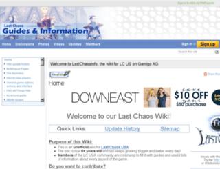 lastchaosinfo.com screenshot