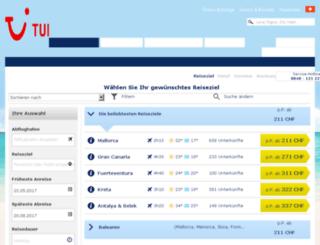 lastminute.tui.ch screenshot