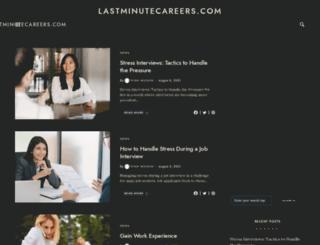 lastminutecareers.com screenshot