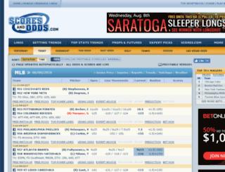 lasvegas.scoresandodds.com screenshot