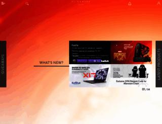 latam.alienwarearena.com screenshot
