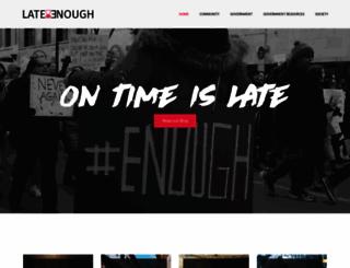 lateenough.com screenshot