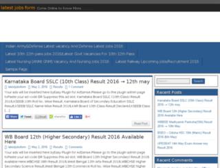 latestjobsform.in screenshot