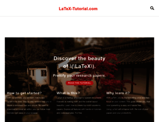 latex-tutorial.com screenshot