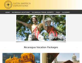 latinamericaexpeditions.com screenshot