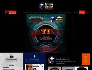 latinastereo.com screenshot