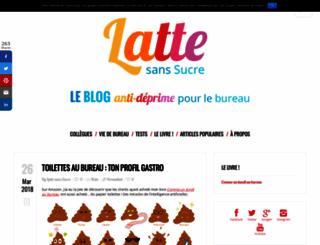 lattesanssucre.com screenshot