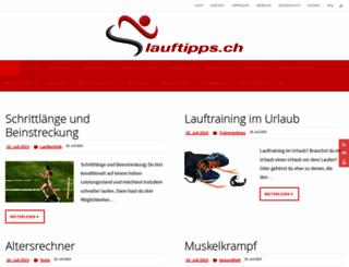 lauftipps.ch screenshot