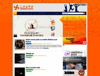 laura-mladez.sk screenshot