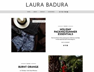 laurabadura.com screenshot
