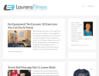 laurensfitness.com screenshot