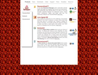 lavasoftware.com screenshot