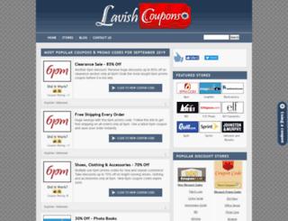 lavishcoupons.com screenshot