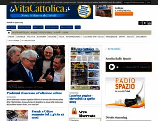 lavitacattolica.it screenshot