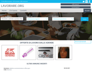 lavorare.org screenshot