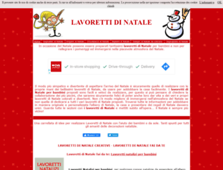lavorettidinatale.it screenshot