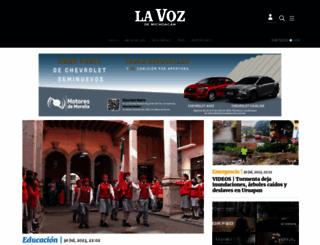 lavozdemichoacan.com.mx screenshot
