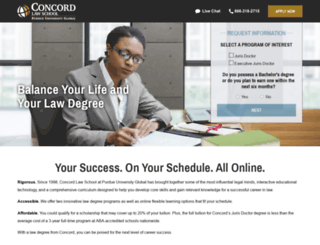 law.concordlawschool.edu screenshot