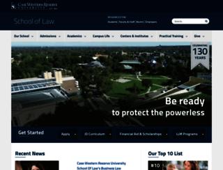 law.cwru.edu screenshot