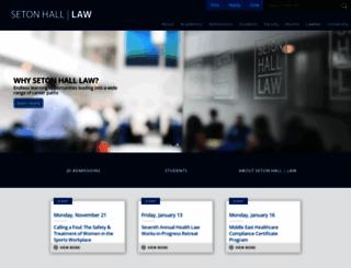 law.shu.edu screenshot