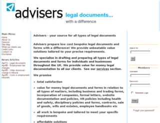 lawadvisers.co.uk screenshot