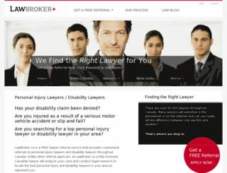 lawbroker.ca screenshot