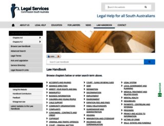 lawhandbook.sa.gov.au screenshot