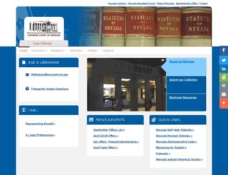 lawlibrary.nevadajudiciary.us screenshot
