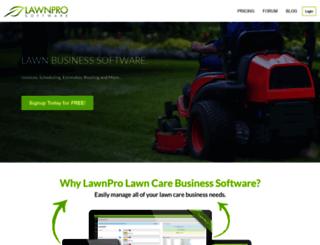 lawnprosoftwarecom screenshot