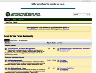 lawnserviceforum.com screenshot