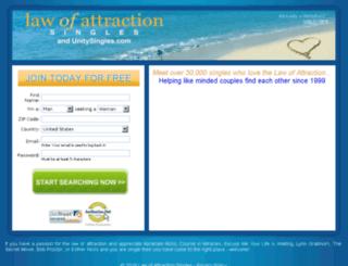 lawofattractionsingles.com screenshot