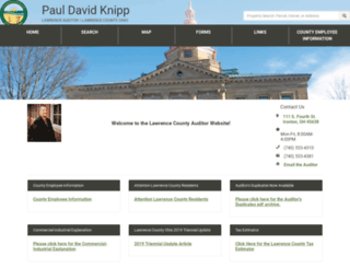 lawrencecountyauditor.org screenshot