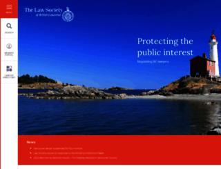 lawsociety.bc.ca screenshot
