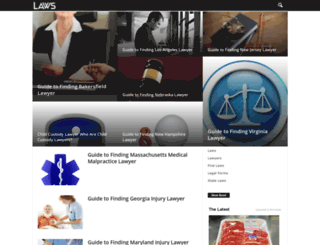 lawyer.laws.com screenshot
