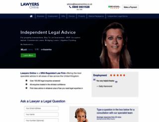 lawyersonline.co.uk screenshot