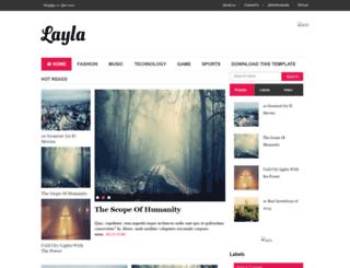 layla-soratemplates.blogspot.com.br screenshot