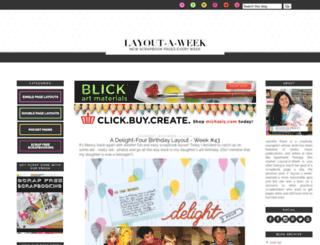 layout-a-week.blogspot.ae screenshot